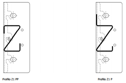 Longherine e Profili Z1 e ZPP